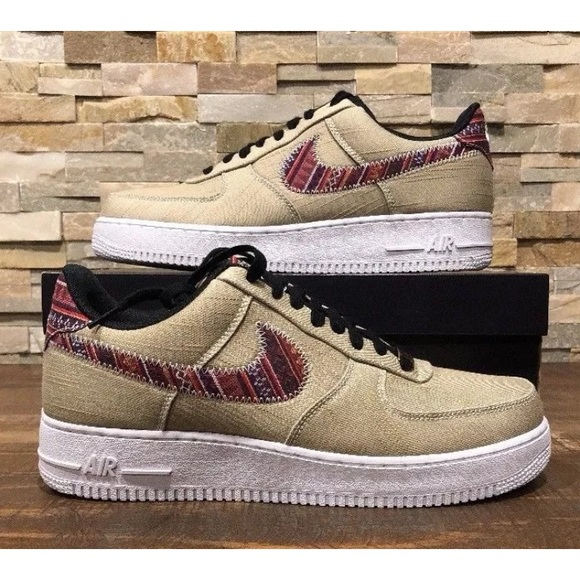 NEW NIKE AIR FORCE 1 07 LV8 KHAKIBLACK WHITE NWT